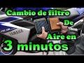 Yamaha R3 Cambio Filtro de aire alto flujo