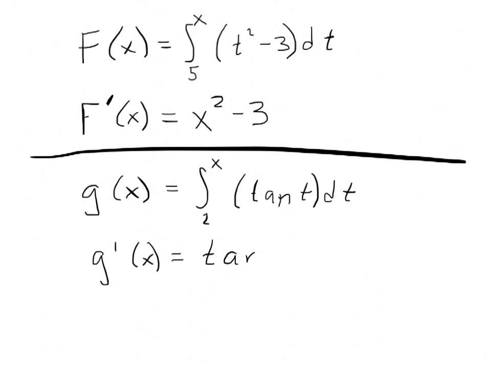 Lesson 4 13A The Second Fundamental Theorem of Calculus