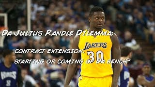 Lakers slim down their roster. julius randle contract ordeal. let the man start!!!