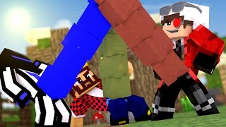ЧЕЙ СТОЛБ ДЛИННЕЕ АИД ТЕРОСЕР И ДЕМАСТЕР МЕРЯЮТСЯ СВОИМИ СТОЛБАМИ  Minecraft