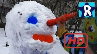 ★ Tail A Huge Orbit Of A Snowman With Orzes Walking Outdoors Doing A Snowman Making A Giant   # 193