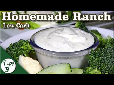 Homemade Ranch Dressing Recipe – Low Carb Keto Salad Dressing | Saucy Sunday
