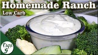 Homemade Ranch Dressing Recipe  Low Carb Keto Salad Dressing  Saucy Sunday