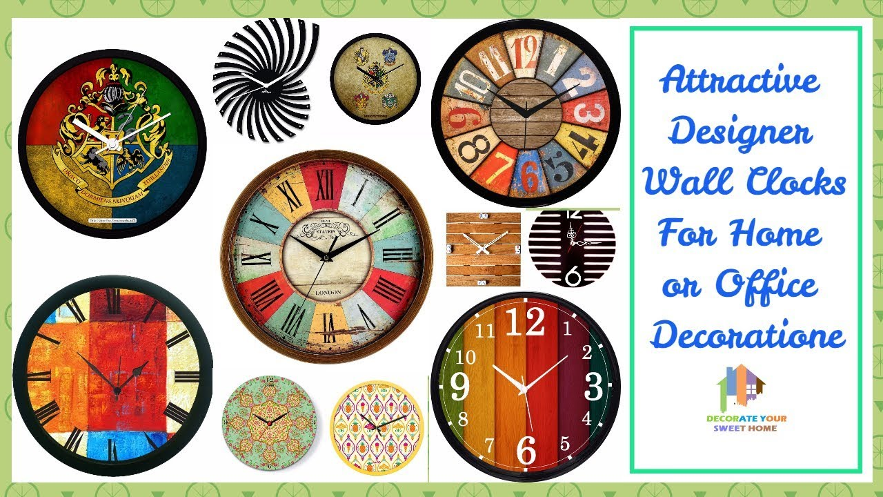 Attractive designer wall clocks for home or office decoration attractive designer wall clocks for home or office decoration amipublicfo Gallery