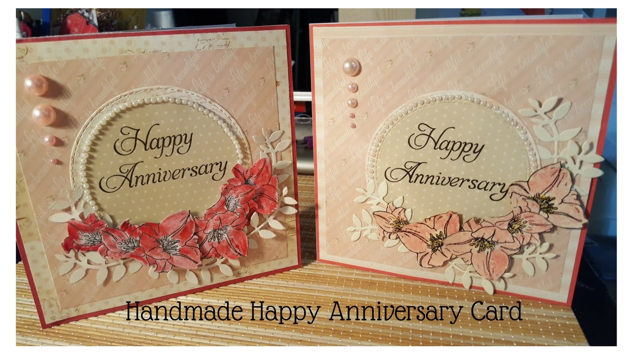 how to make happy anniversary card  youtube