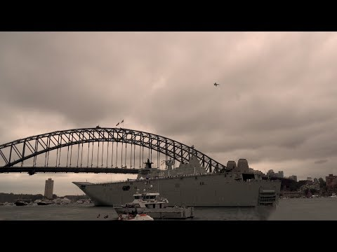 Australia day 2018 F/A-18 Hornets flypast...