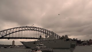 Australia day 2018 F/A-18 Hornets flypast in Sydney Harbour