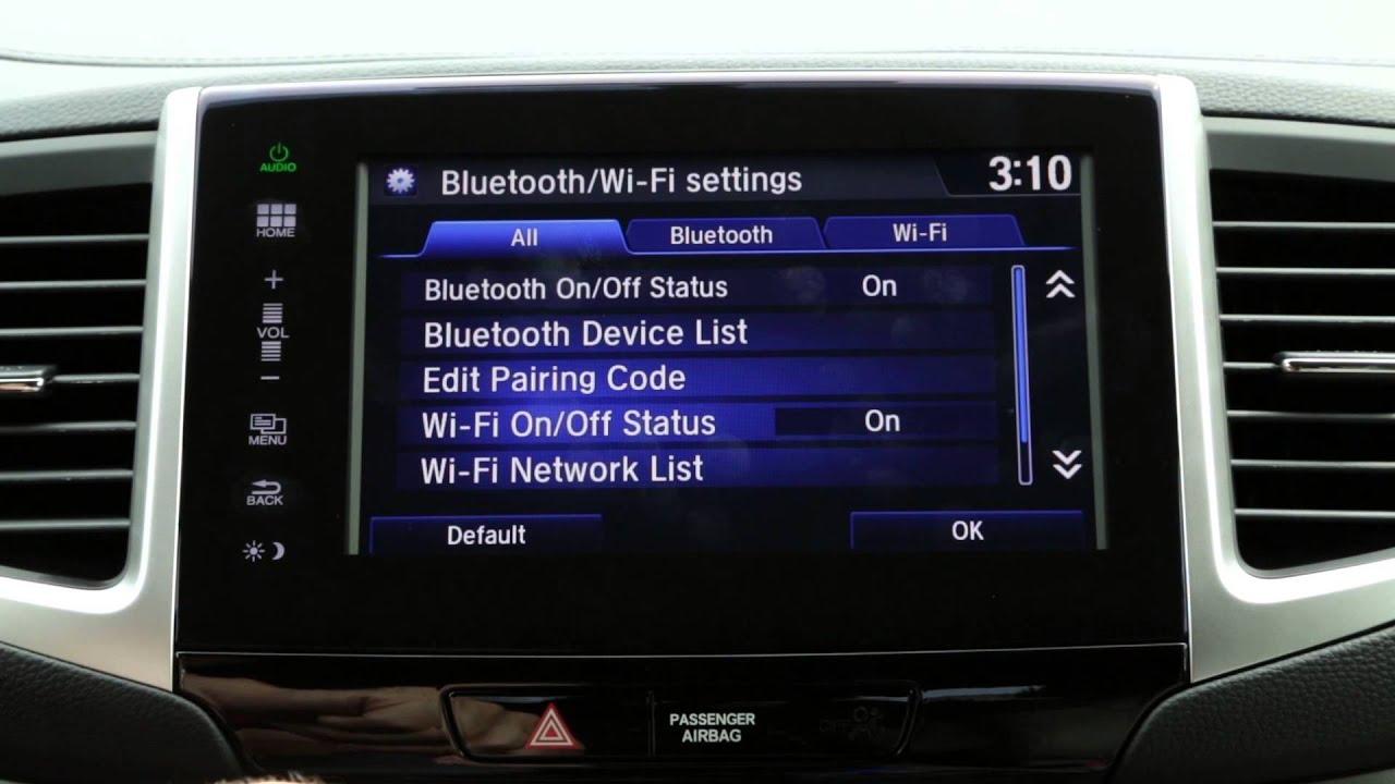 2016 Honda Pilot Tips Tricks Next Generation Hondalink Wifi Settings