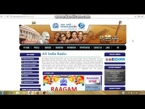 How can listen ALL INDIA RADIO online