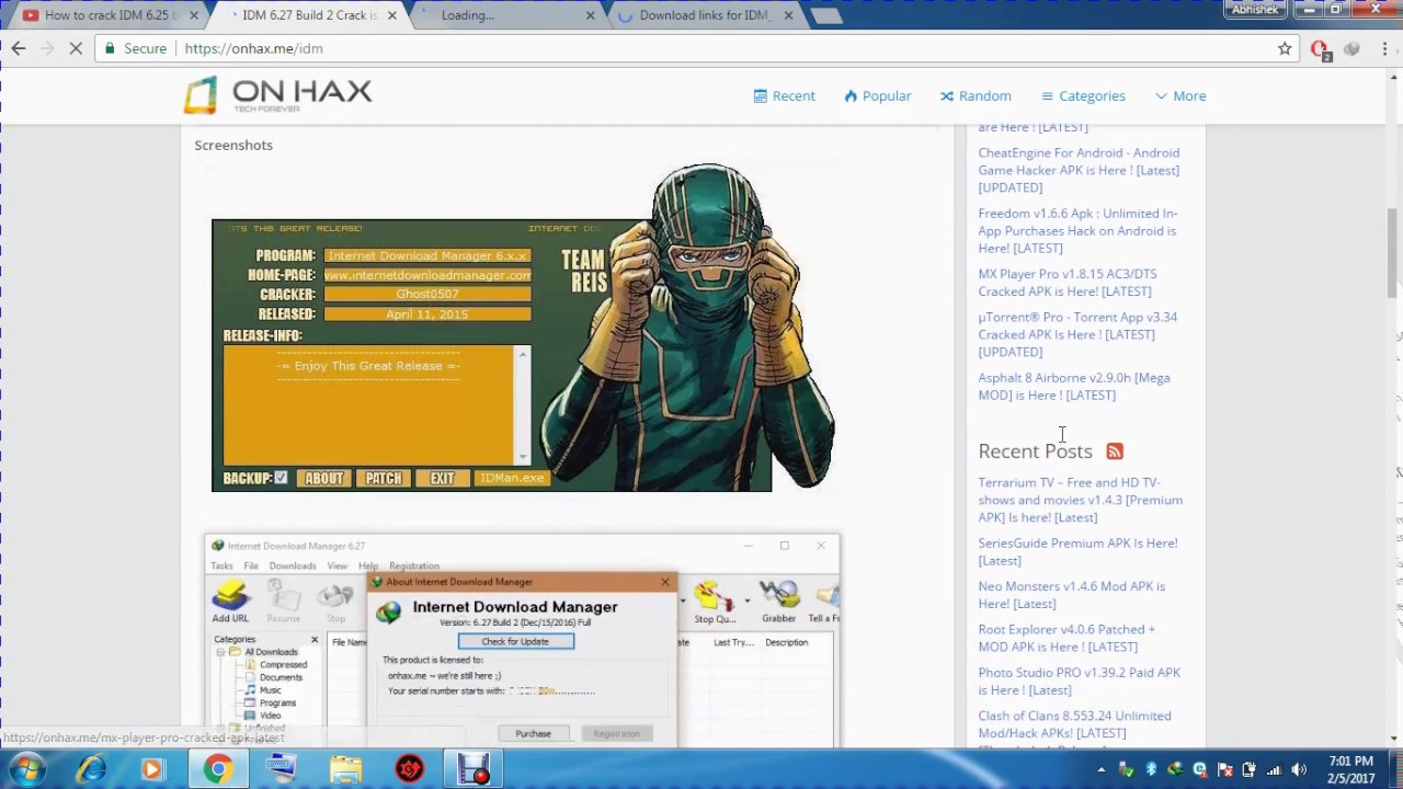 Internet Download Manager (IDM) 100% working without saying fake serial no