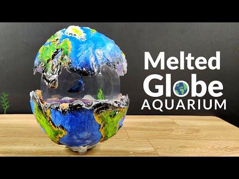 Globe Aquarium | Aquarium From Cement | Siamese Fighting Fish Tank DIY