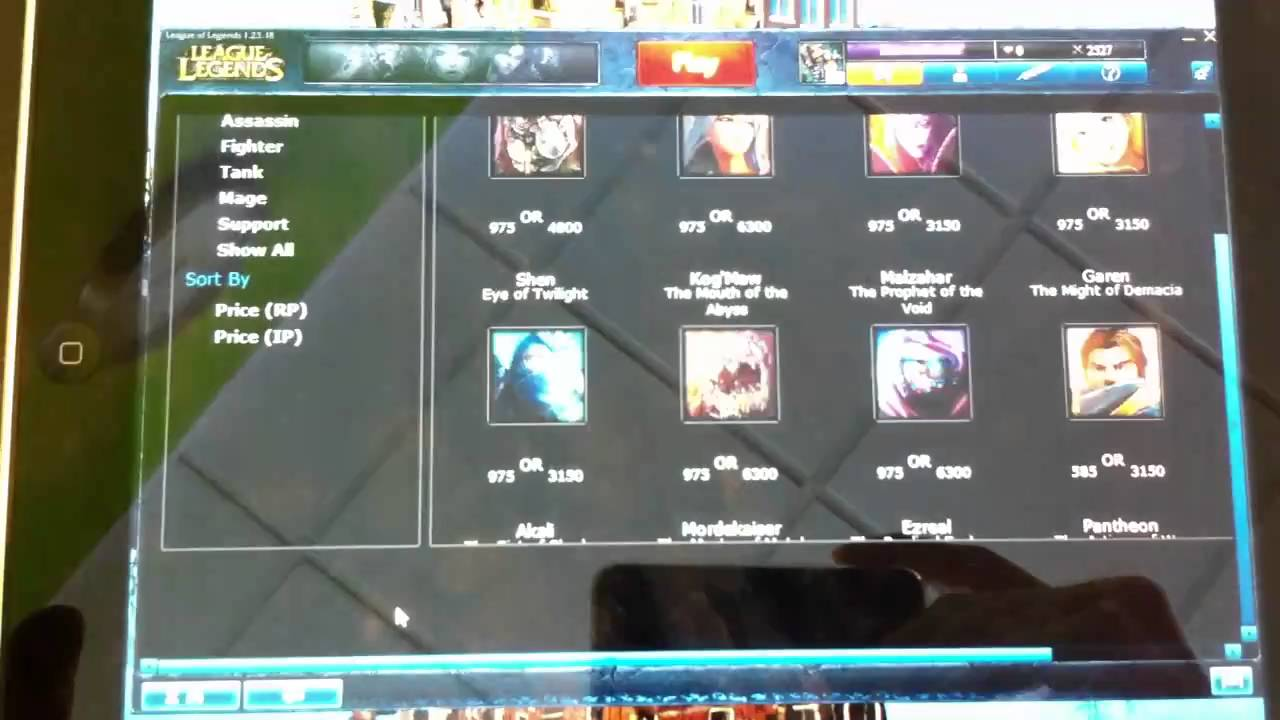 Extreme Got League Of Legends On Ipad