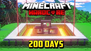 I Survived 200 Days of Hardcore Minecraft and this is what happened...