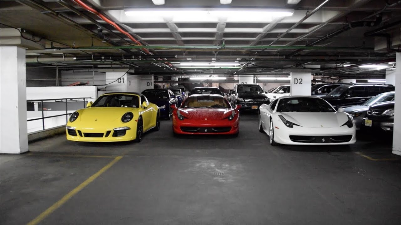 Supercar garage youtube for Five car garage