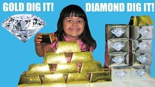 MEGA 20 pcs GOLD DIG IT and DIAMOND DIG IT Surprise Toys Gold Hunt