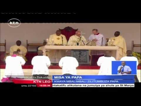 Maelfu Ya Wakenya Wafurika Chuo Kikuu Cha Nairobi Kushiriki Misa Iliyoongozwa Na Papa Francis