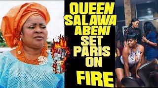 Alhaja Queen Salawa Abeni Set Paris on Fire!Look At Aadekunle Gold