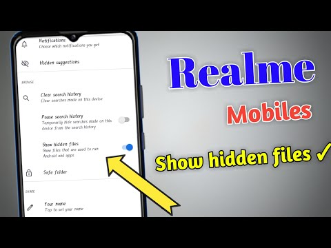 How To Show Hidden Files On Realme Moblie | Realme Mobile Show Hidden Files| #Realme