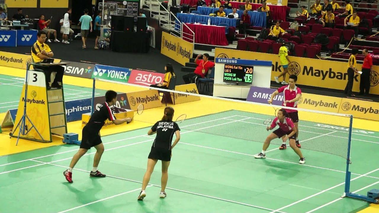 Maybank Malaysia Badminton Open 2013 2 XDQ Wong Shevon Vs Wong