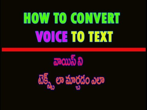 How to convert voice to text with google docs Tutorial in Telugu