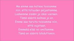 Suomalaiset biisit teksteineen