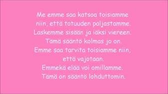 Anna Puu Säännöt rakkaudelle lyrics