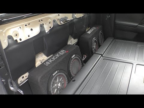 2017 Toyota Tacoma hidden subwoofers (Kicker Comp RT)