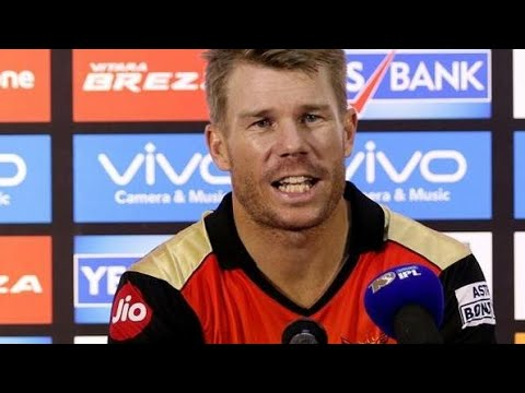 SRH VS KXIP || IPL 2018 || DAVID WARNER INTERVIEW HYDERABADI STYLE