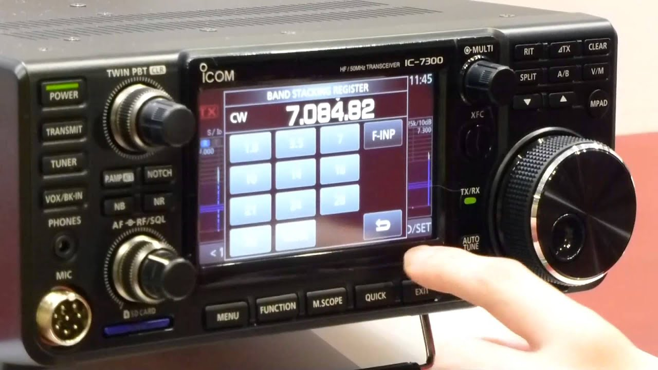 The new IC-7300 Direct-Sampling SDR HF/6m Transceiver