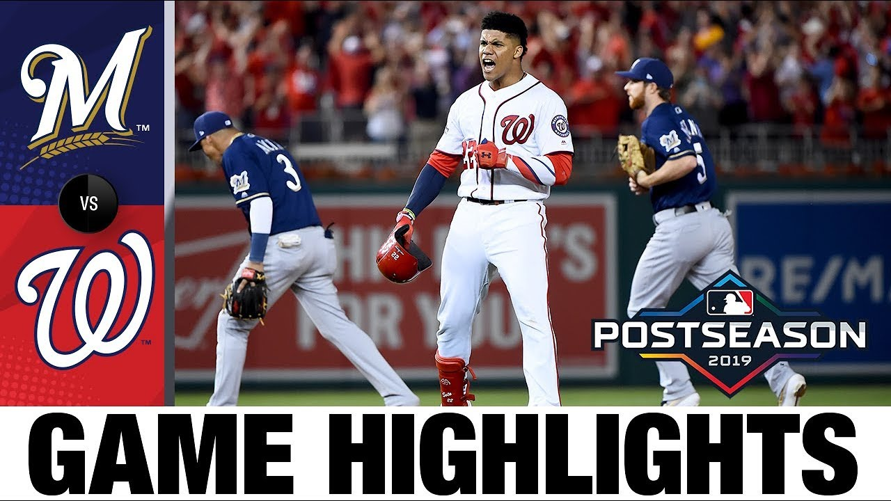 Juan Soto's clutch hit in the 8th lifts Nationals   NL Wild Card Highlights   MLB Postseason - YouTube