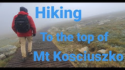 Mt Kosciuszko, Hiking to the highest peak in Australia.