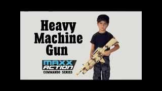 "Gambar cover Maxx Action 29"" Toy Heavy Machine Gun with Electronic Sound, Lights, and Motorized Recoil"