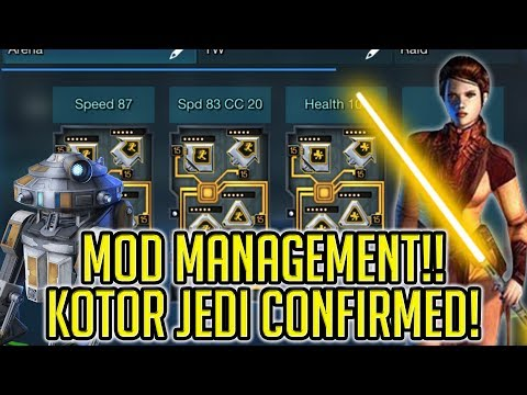Mod Management and Knights of the Old Republic Jedi Confirmed! | Star Wars: Galaxy of Heroes