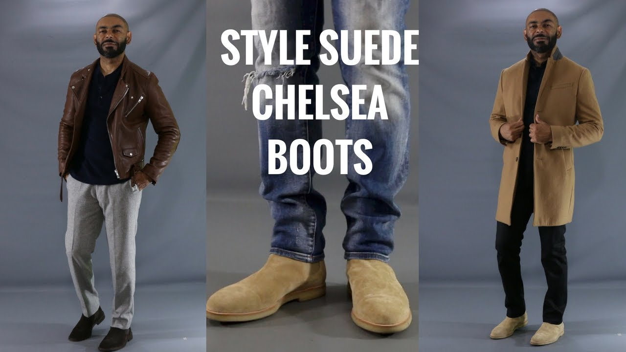 5da7092a0026 How To Style Men's Suede Chelsea Boots/How To Wear Men's Suede Chelsea Boots
