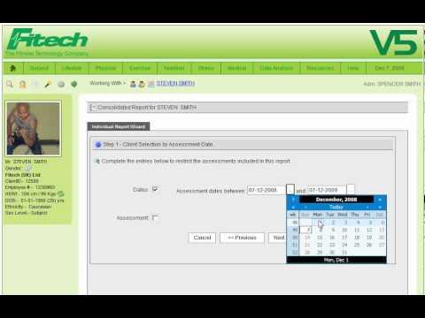 Fitech V5 Wellness Software- Individual Report