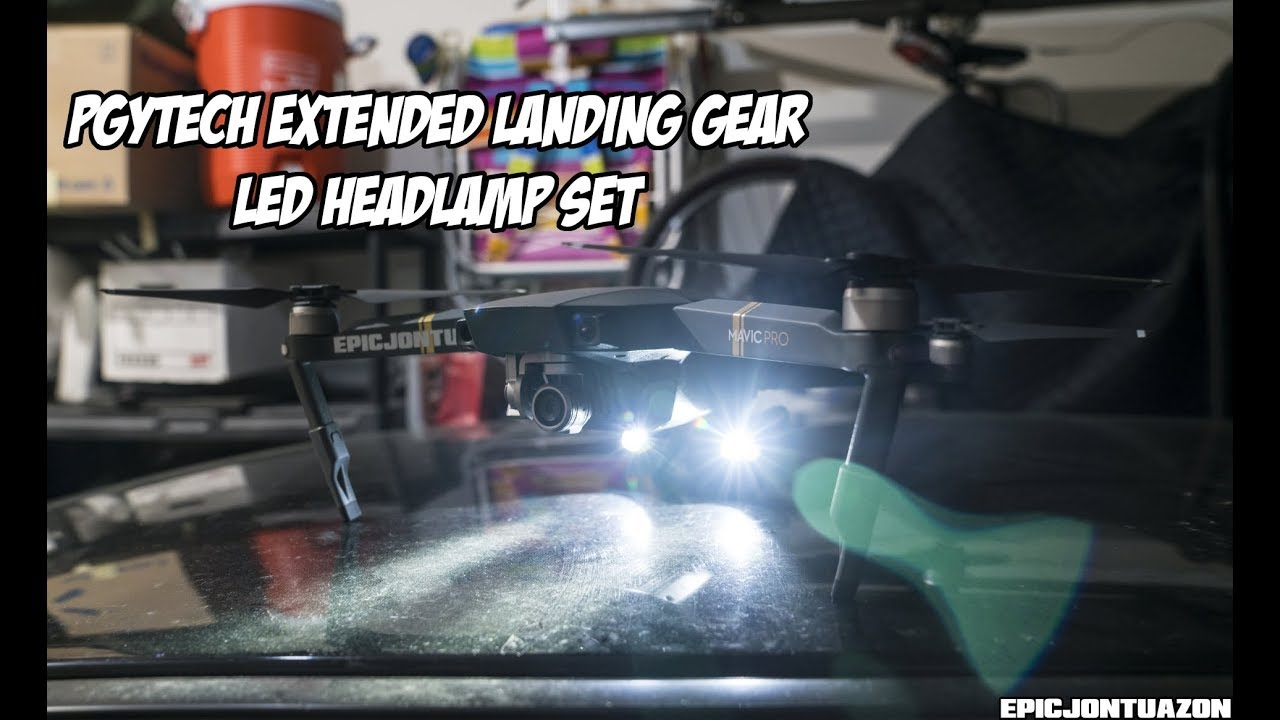 5e2093f27dd DJI Mavic Pro | PGYTech Extended Landing Gear | LED Headlamp Set ...