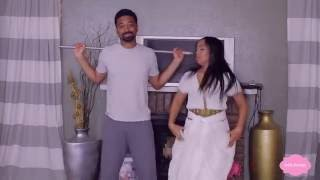 Ethiopian Girl Teaching Ethiopian Dance To Her American Boy Friend
