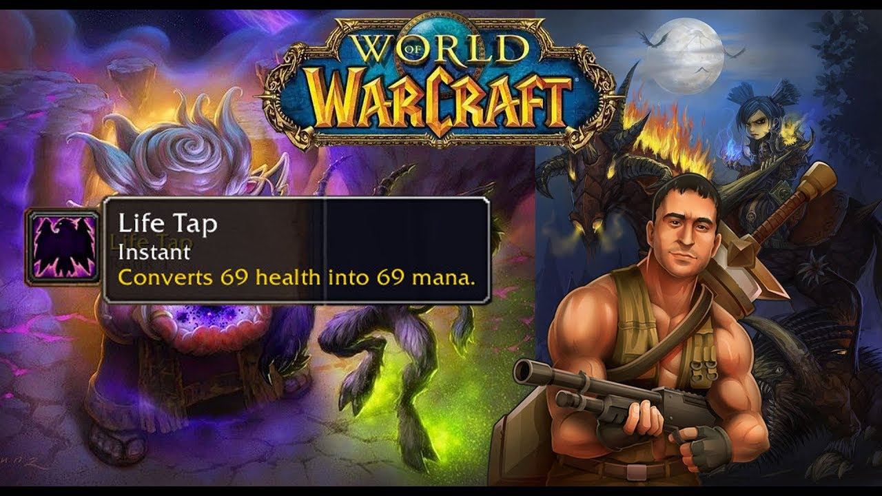 Wow Classic Using Life Tap As A Warlock Youtube