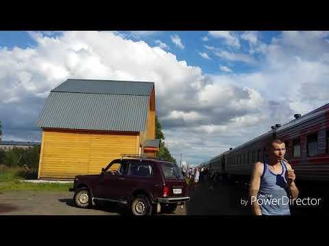 Поездка на поезде N311C Воркута - Новороссийск. От Лузы до Кирова + Маршрут поезда