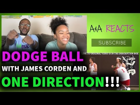 Dodgeball with ONE DIRECTION and James Corden REACTION || SPORTS REACTIONS