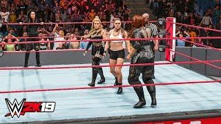 WWE 2K19 - Ronda Rousey & Natalya vs Nia Jax & Tamina - Raw 3 Dec 2018