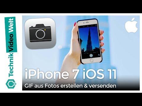 iPhone 7 iOS 11 GIF aus Fotos erstellen und versenden