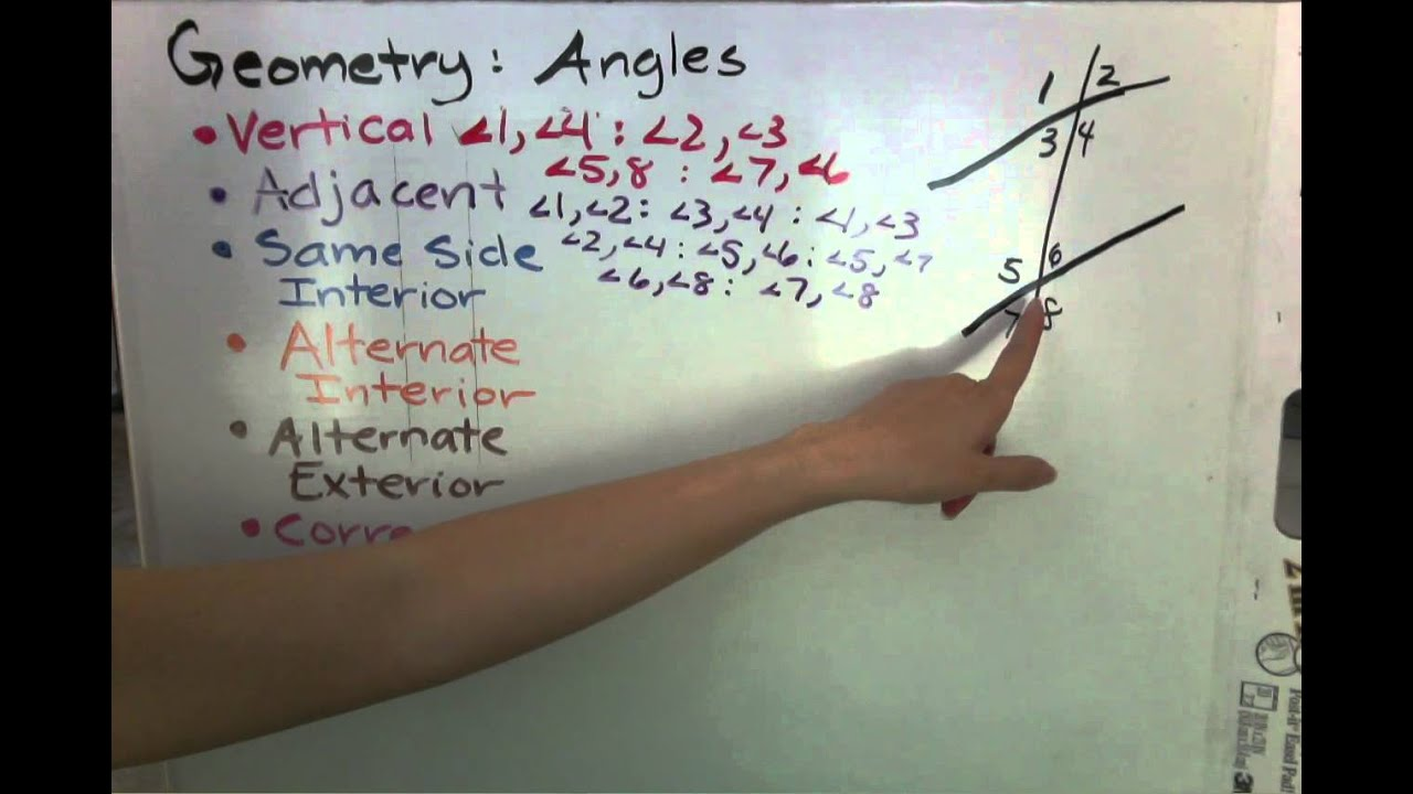 Geometry angles vertical adjacent same side interior - Same side exterior angles are congruent ...