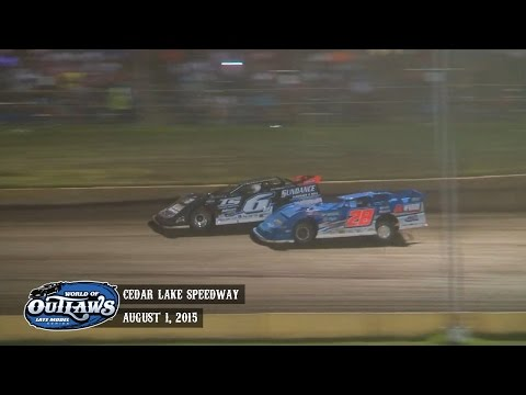 Highlights: World of Outlaws Late Model Series Cedar Lake Speedway August 1st, 2015