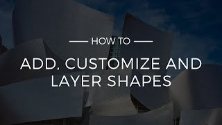 How To Add Shapes And Other Design Elements