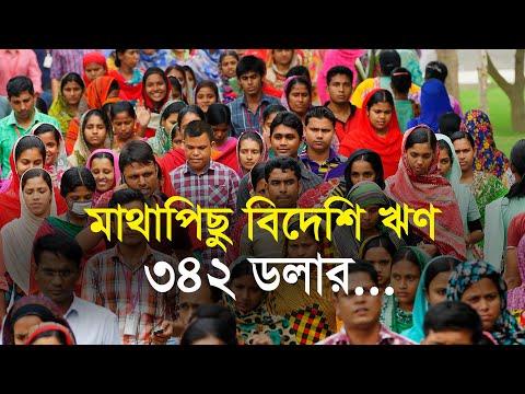 মাথাপিছু বিদেশি ঋণ ৩৪২ ডলার | Bangla Business News | Business Report 2020