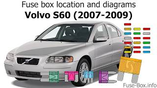 Fuse box location and diagrams: Volvo S60 (2007-2009) - YouTube