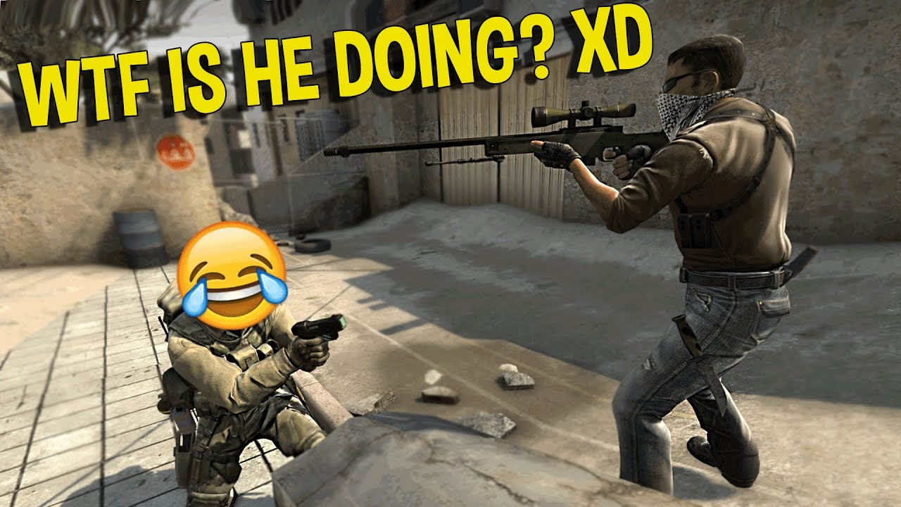 CS:GO SILVER FUNNY MOMENTS   WTF TROLLING SPAWN CAMPER, JUMPING COLLATERAL SNIPE ( FUNNY MOMENTS)
