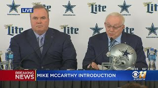 Mike McCarthy Introduced As New Head Coach Of Dallas Cowboys