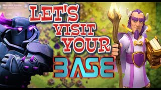 🔴LET'S VISIT YOUR BASE IN COC || LATE NIGHT STREAM || CLASH OF CLANS STREAM || LIVE BASE VISIT
